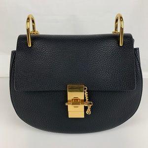 164263a48c055 New Chloe Drew Black Leather Shoulder Bag